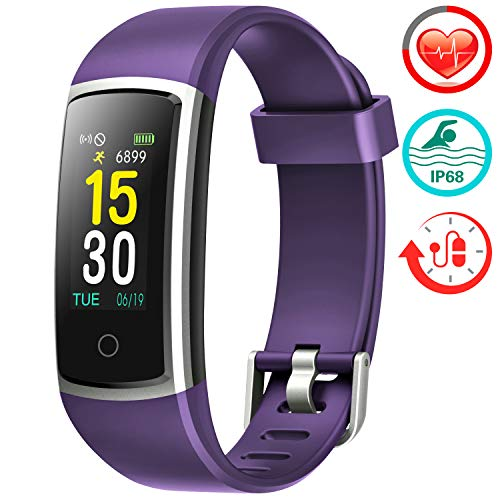 FITFORT Fitness Tracker with Blood Pressure HR Monitor - PURPLE