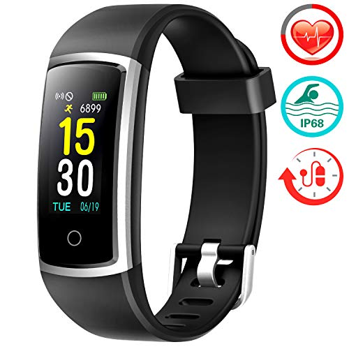 Fitness Tracker With Blood Pressure HR Monitor - BLACK