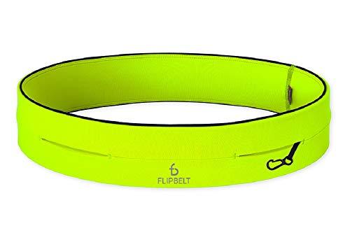 FlipBelt Level Terrain Waist Pouch, Neon Yellow, Medium/29-32