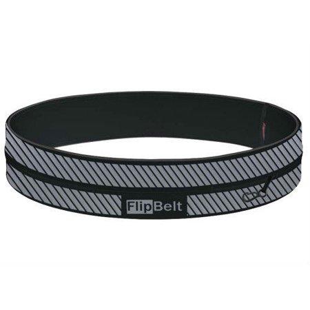FlipBelt Running Exercise Storage Belt - Reflective Black / XL