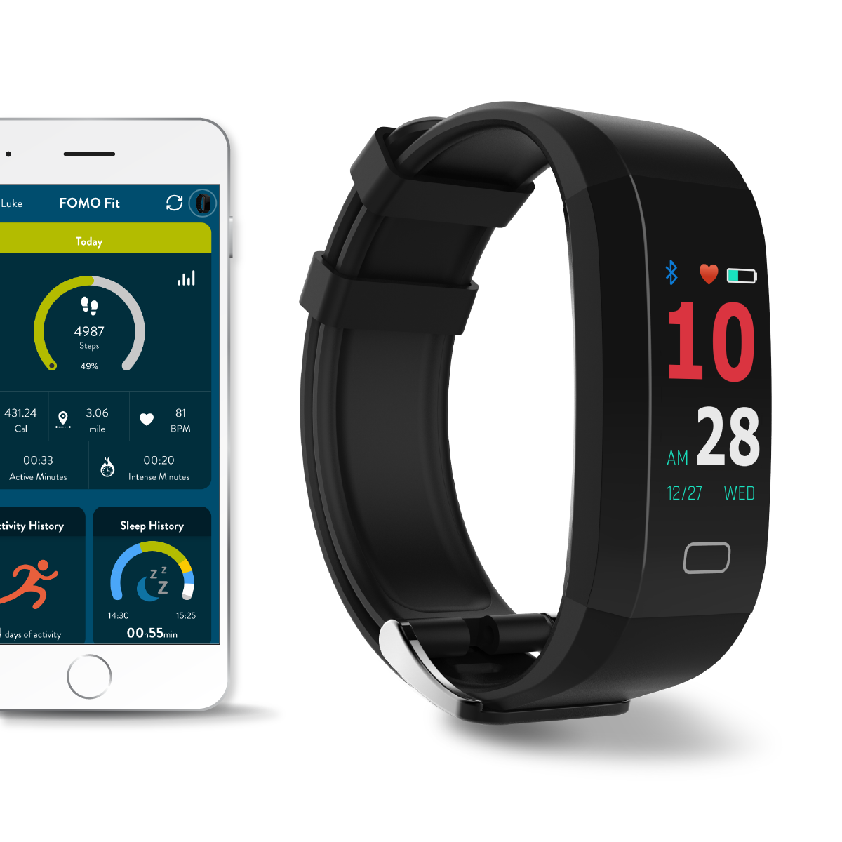 FOMO Fit GPS fitness tracker watch designed in California ...
