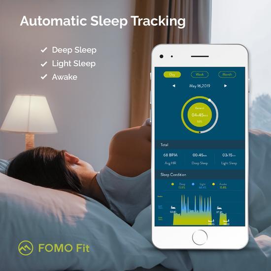 FOMO Fit SPORT - black band fitness tracker - RebateKey