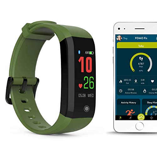 FOMO Fit Sport Fitness Tracker - OLIVE GREEN