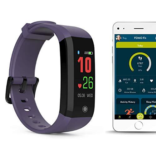FOMO Fit Sport Fitness Tracker Watch - SOFT PURPLE
