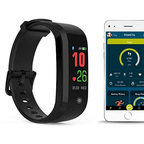 FOMO Fit Sport Fitness Watch - FLAT BLACK