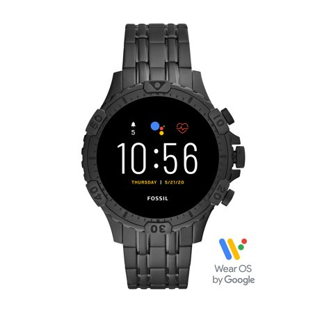 Fossil 5th Generation Garrett HR Men's Smartwatch - Black Stainless Steel - Powered with Wear OS by Google