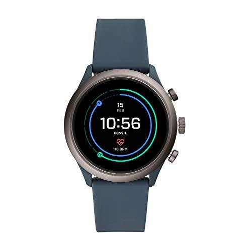Fossil Men's Gen 4 Sport Touchscreen Smartwatch, Color: Grey, Blue (FTW4021)