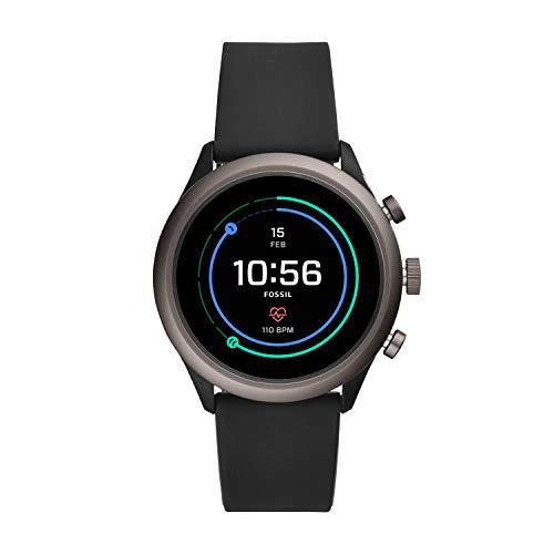 Fossil Men's Sport Touchscreen Smartwatch, Color: Grey, Black (FTW4019)