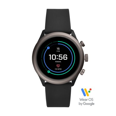 Fossil Sport Men's Smartwatch - Black Silicone 43mm - Powered with Wear OS by Google