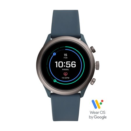 Fossil Sport Men's Smartwatch - Smokey Blue Silicone 43mm - Powered with Wear OS by Google
