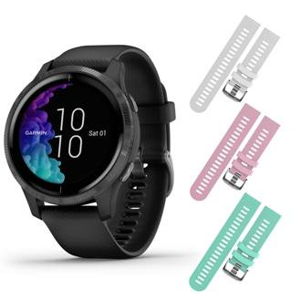 Garmin Venu GPS Smartwatch with AMOLED Display and Included Wearable4U 3 Straps Bundle