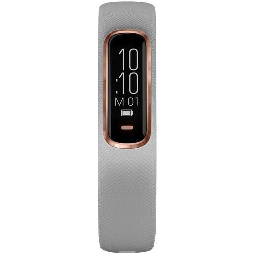 Garmin - vívosmart 4 Activity Tracker + Heart Rate (Medium/Small) - Gray