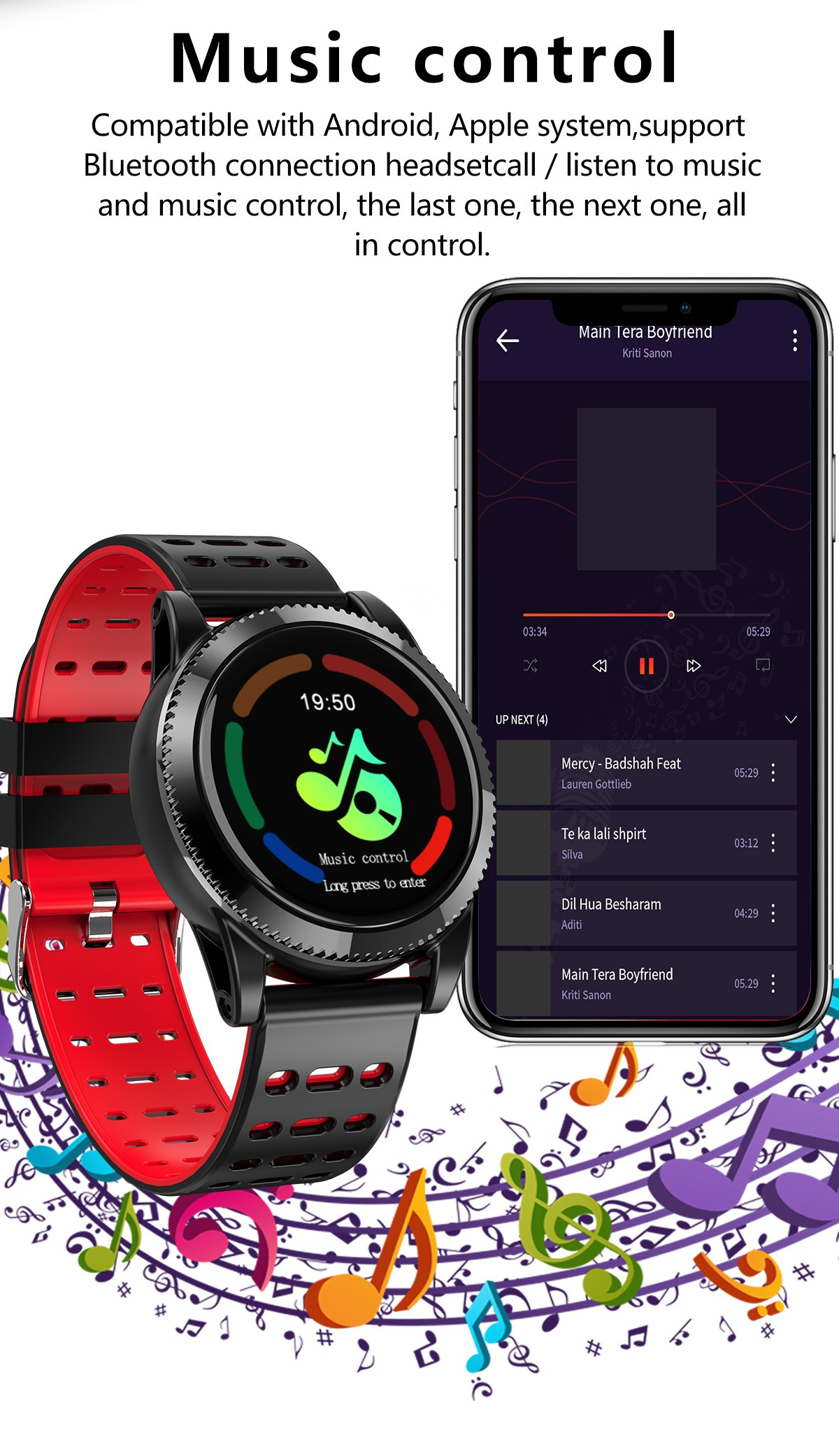 GOKOO Sports Smart Watch for Men Women with All-Day Heart ...