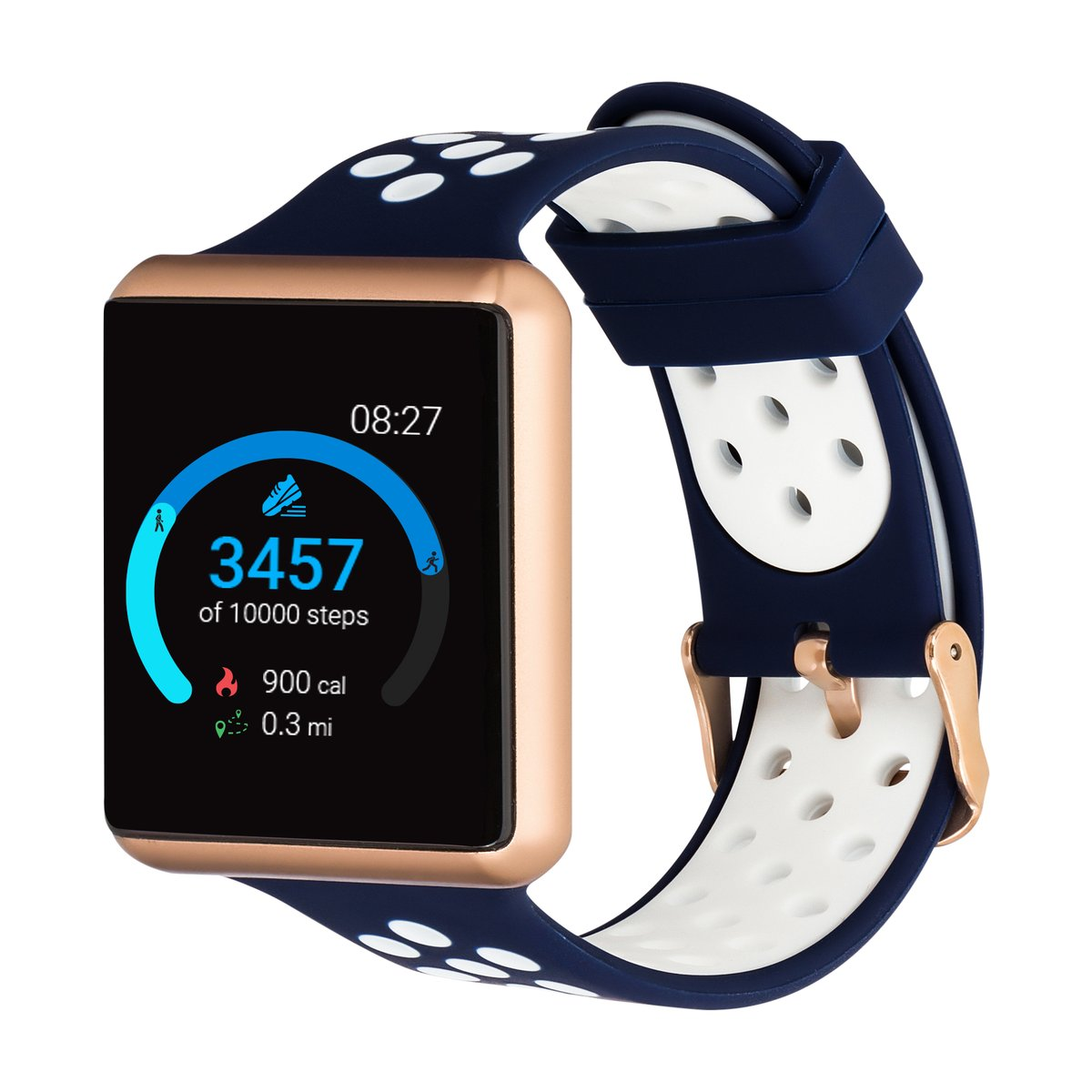 iTouch Air SE Smartwatch: Rose Gold Case With Navy/White ...