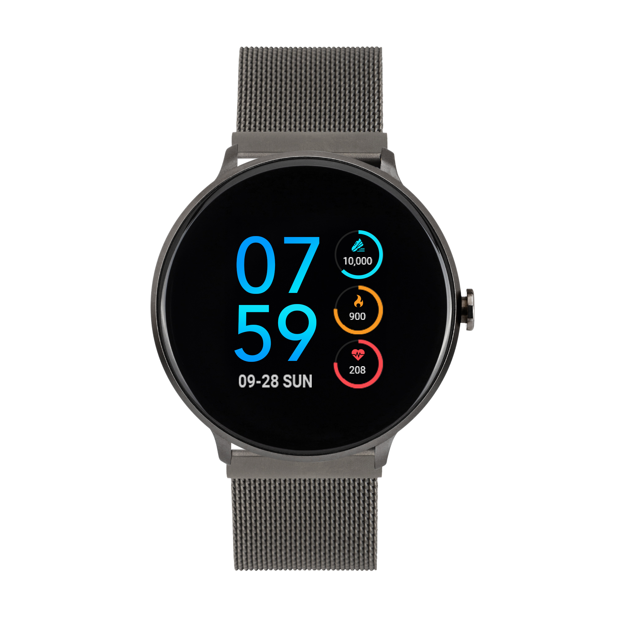 iTouch Sport Mesh Strap Smartwatch with Pedometer - Black ...