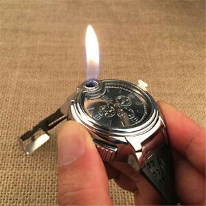 Mens Watches Butane Big Cigarette Cigar Lighter Refillable ...