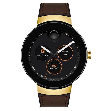Movado Connect Brown Strap Men's Smart Watch 3660019