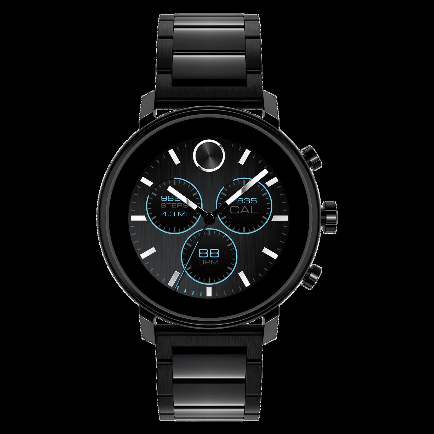 Movado | Movado Connect 2.0 black PVD smart watch with ...