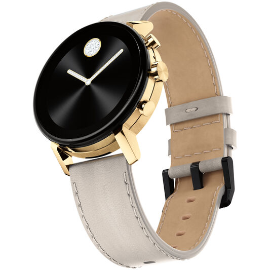 Movado | Movado Connect 2.0 pale gold smart watch with ...