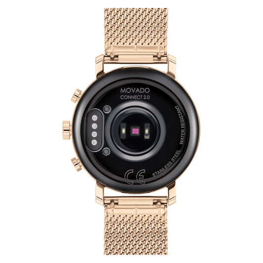 Movado | Movado Connect 2.0 pale rose gold smart watch ...