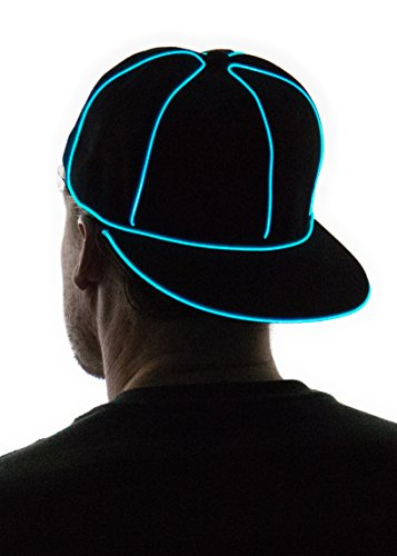 NEON NIGHTLIFE Light Up Snapback Hat - AQUA