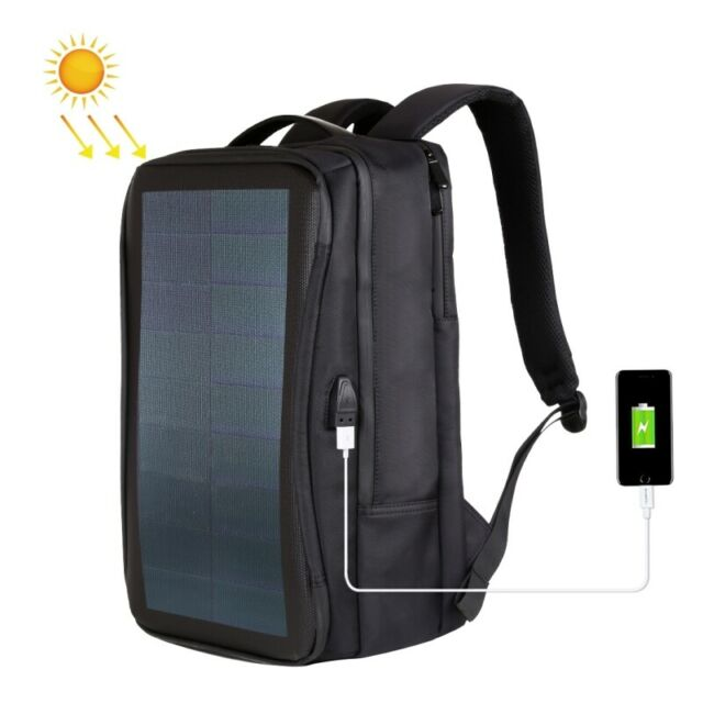 Solar Backpack with USB Charging Port