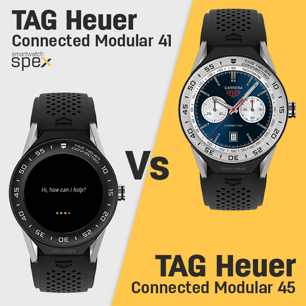 TAG Heuer Connected Modular 41 vs 45 Specifications ...