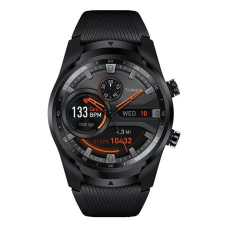 Ticwatch Men's Pro 4G/LTE WF11026V Black Silicone Wear OS by Google Smart Watch