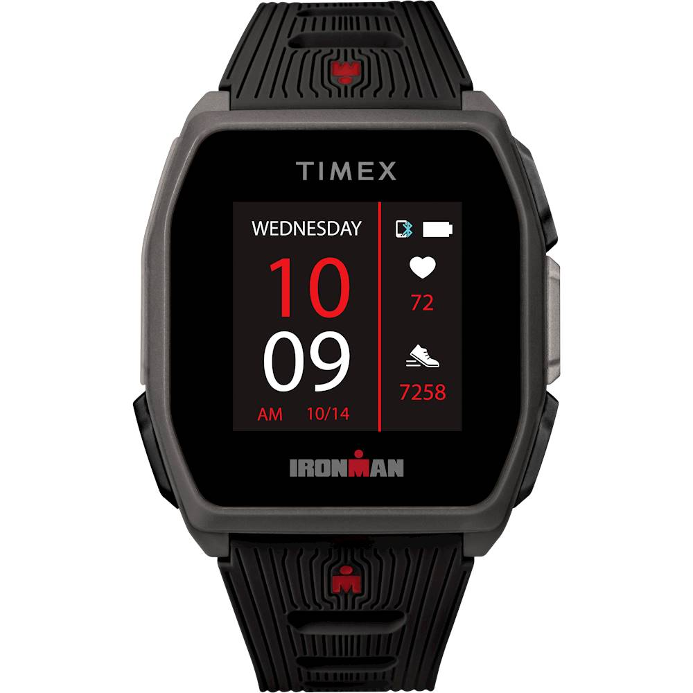 Timex - IRONMAN R300 GPS Sport Watch + Heart Rate - Black