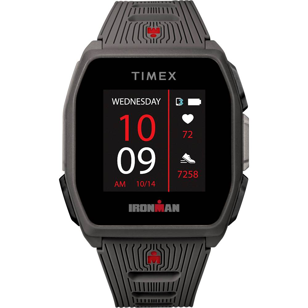 Timex - IRONMAN R300 GPS Sport Watch + Heart Rate - Gray