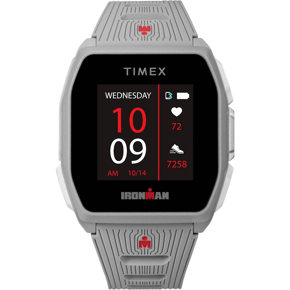 Timex - IRONMAN R300 GPS Sport Watch + Heart Rate - Silver-Tone