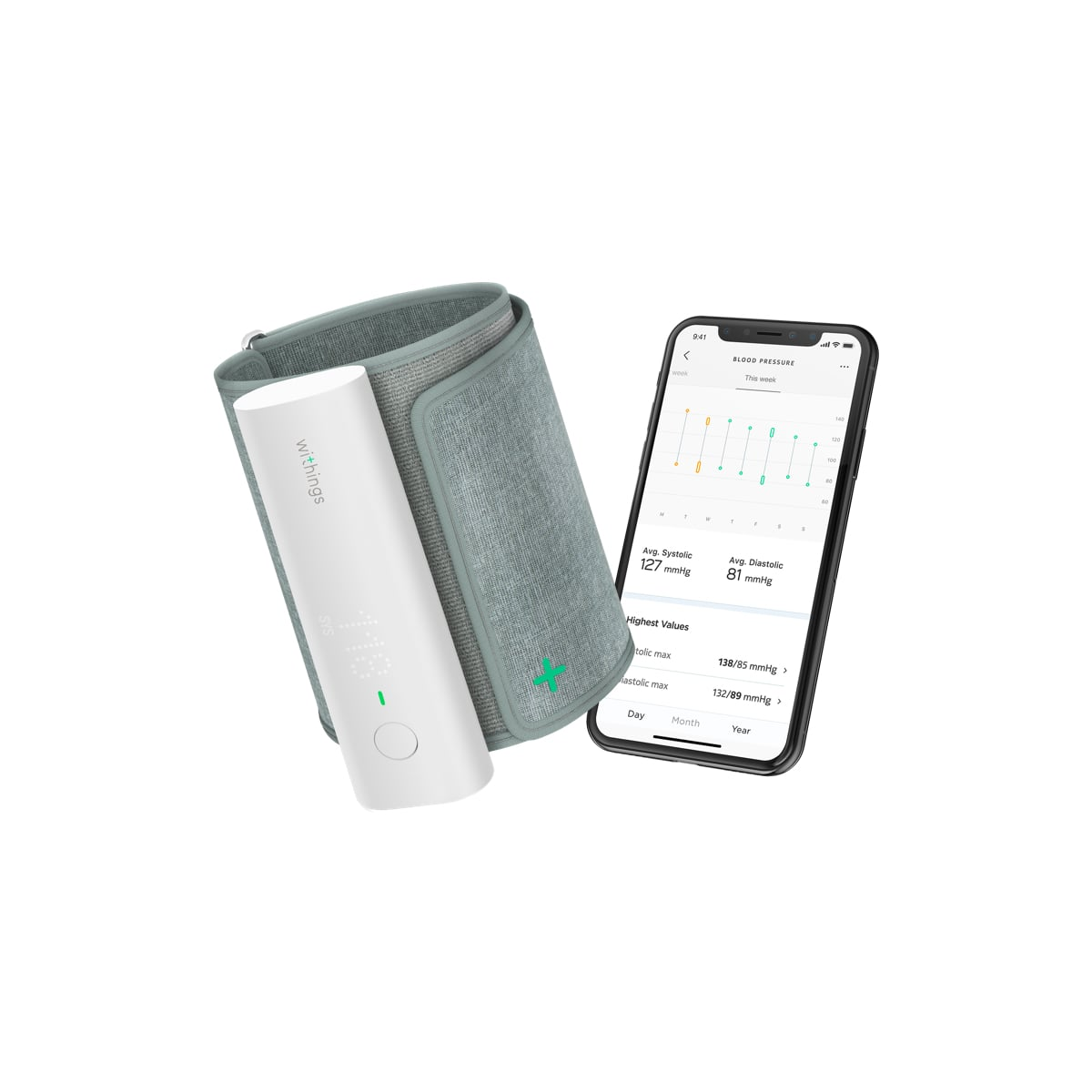 Wi-Fi Smart Blood Pressure Monitor - BPM Connect | Withings