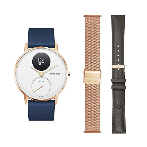Withings Box - One Hybrid Smartwatch with 3 Wristbands (Silicone/Leather/Steel)