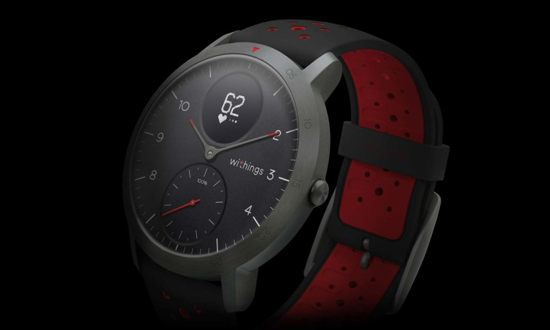 Withings Steel HR Sport smartwatch tracks activity behind ...