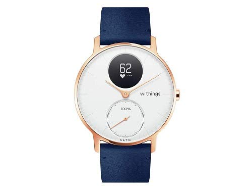 Withings Steel HR - White, Blue Leather - 36mm