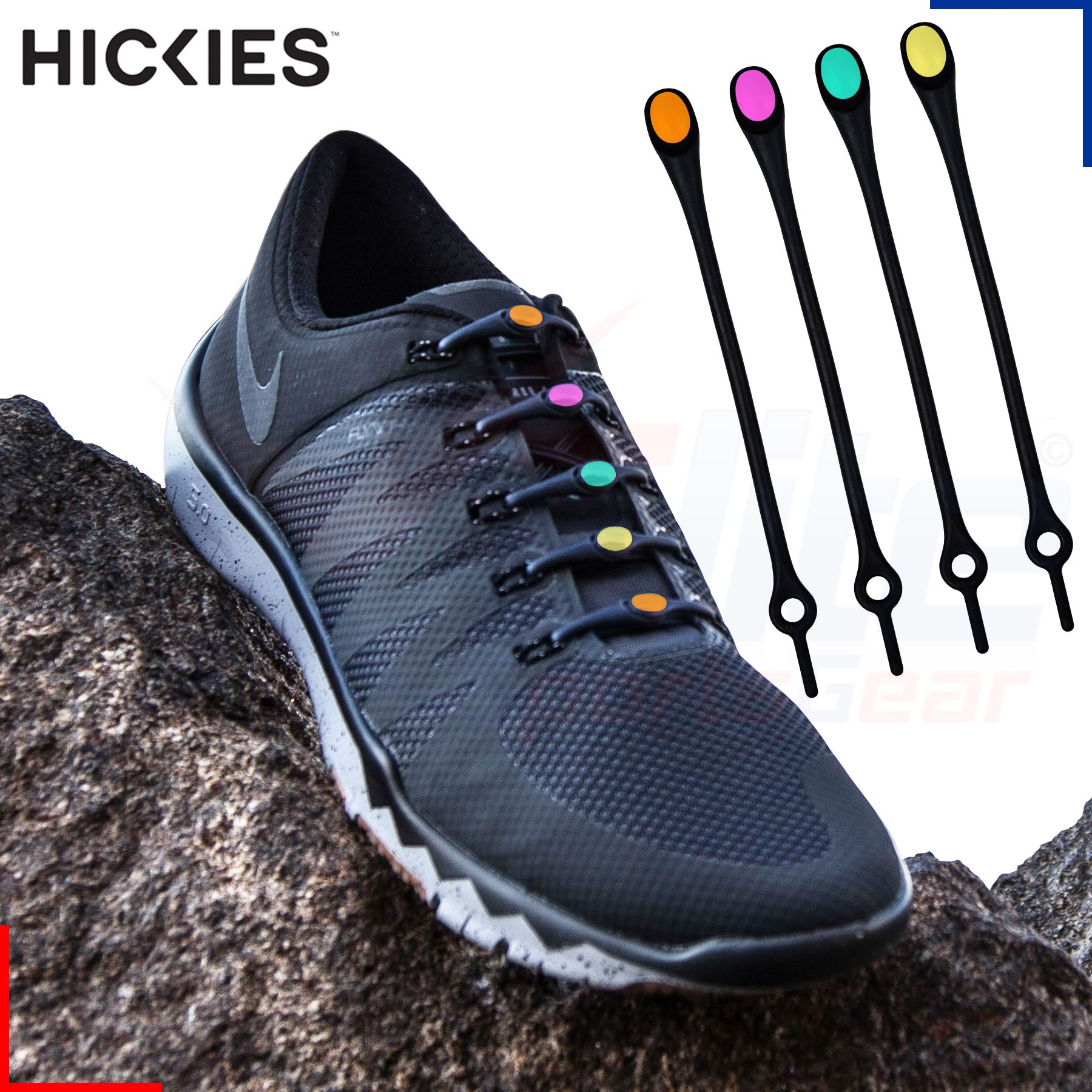 14 Hickies Elastic Trainer Lacing Replacement Sytem - No ...