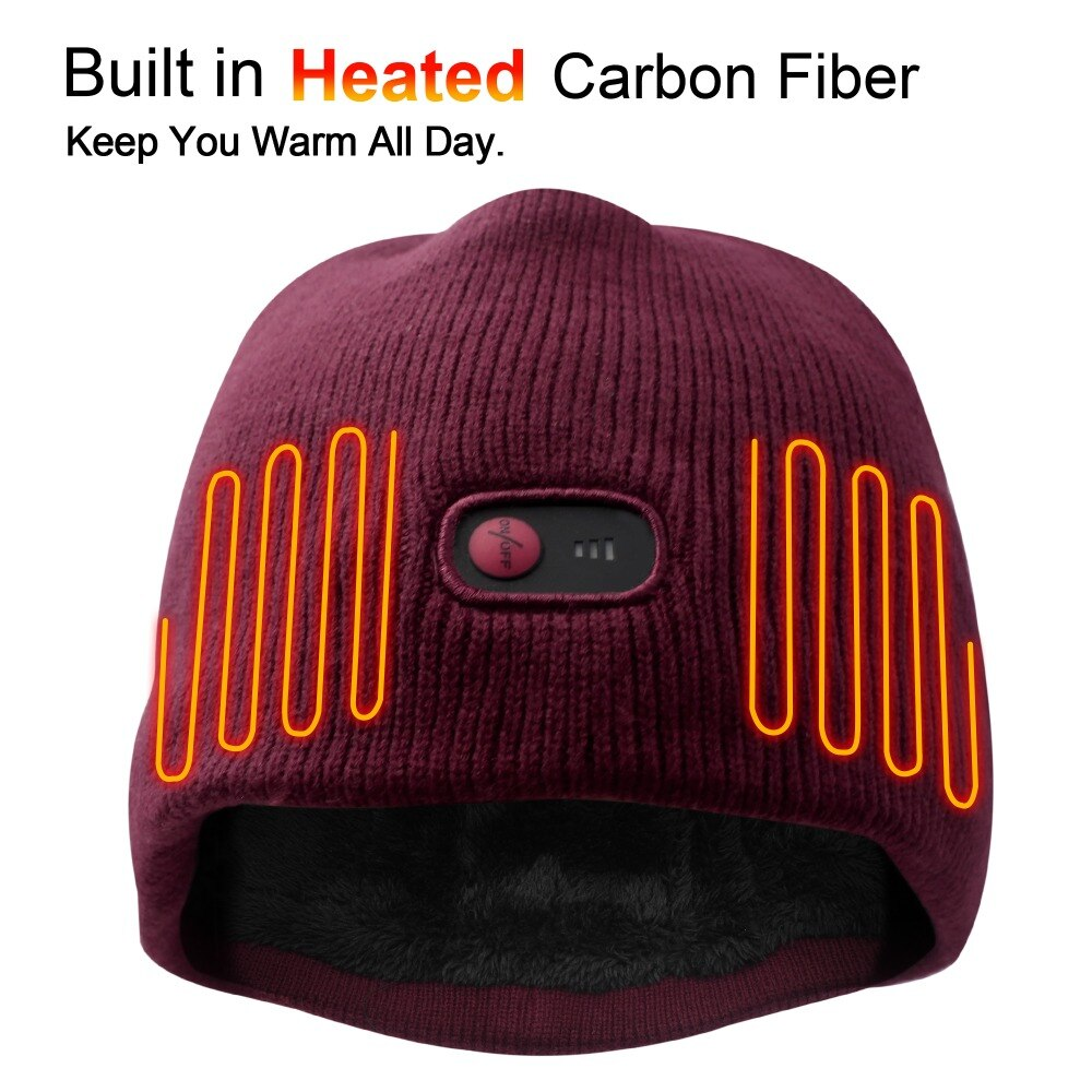 2018 New Electric Battery Heated Hat Skullies Beanies Soft ...