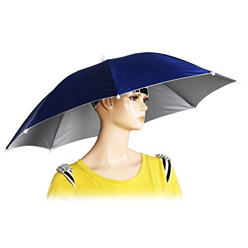 "26"" Diameter Elastic Band Fishing Headwear Umbrella Hat Rainbow Colors"