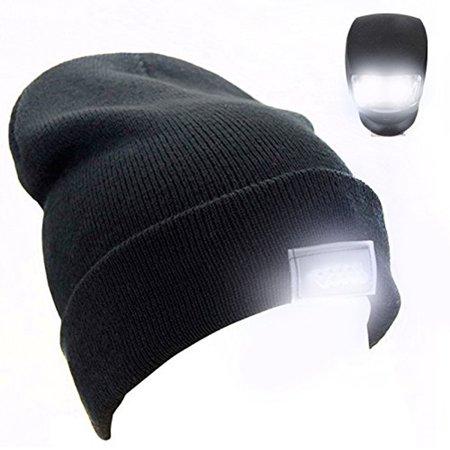 5 LED Cap Beanie Hat Light Head Lamp Unisex Fitted ...