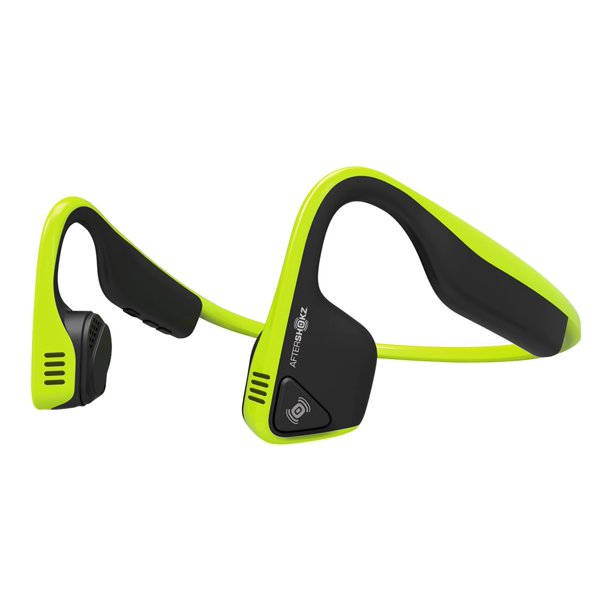 AfterShokz Trekz Titanium - Mini - headphones with mic - open ear - behind-the-neck mount - Bluetooth - wireless - black, green