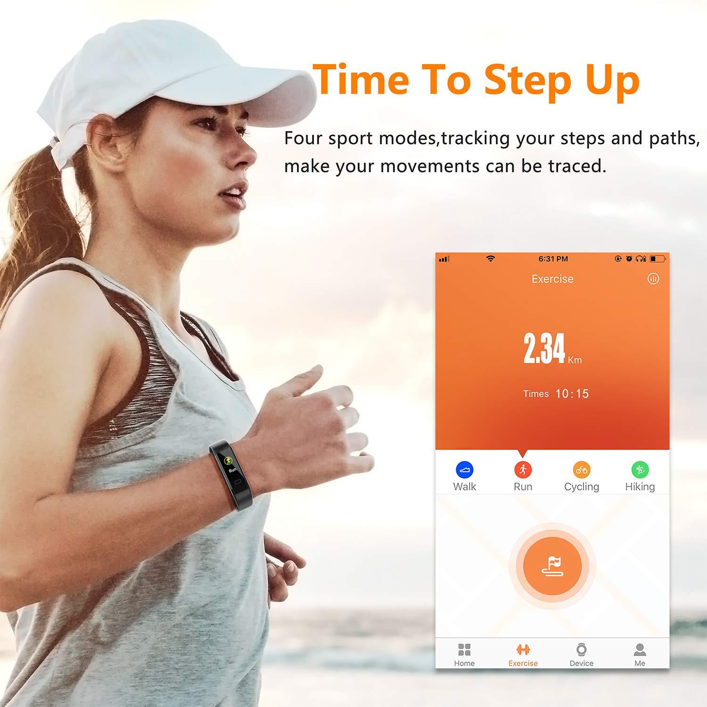 Akasma Fitness Tracker HR, S5 Activity Tracker Watch with ...