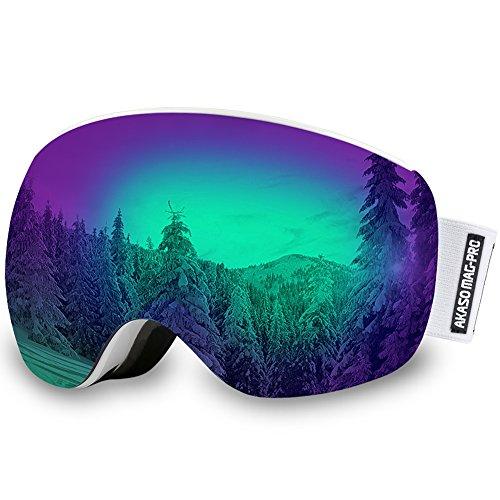 AKASO Mag-Pro OTG Ski Goggles, Snowboard Goggles ...