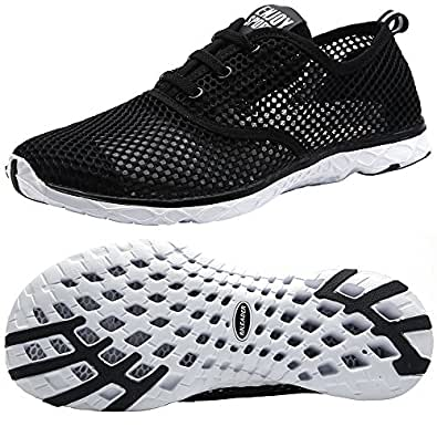 Amazon.com | Aleader Men's Quick Drying Aqua Water Shoes ...