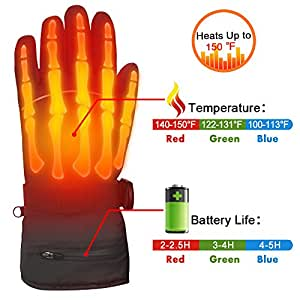 Amazon.com: Autocastle Rechargeable Electric Heated Gloves ...