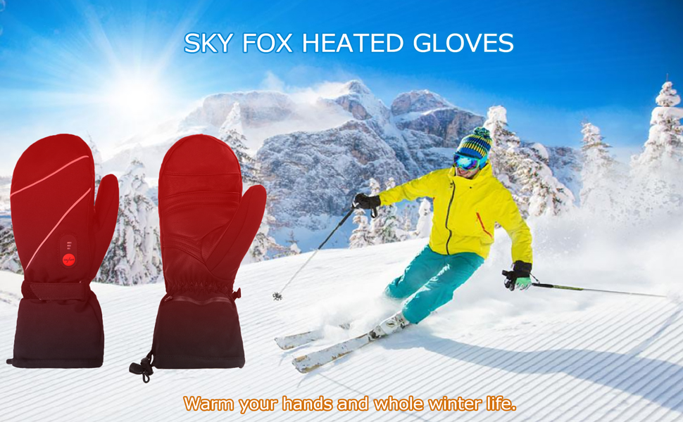 Sky Fox Heated Mittens