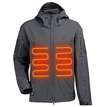 ITIEBO Men's Heated Jacket Electric Battery ...