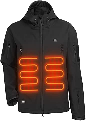 Amazon.com: ITIEBO Men's Heated Jacket Electric Battery ...
