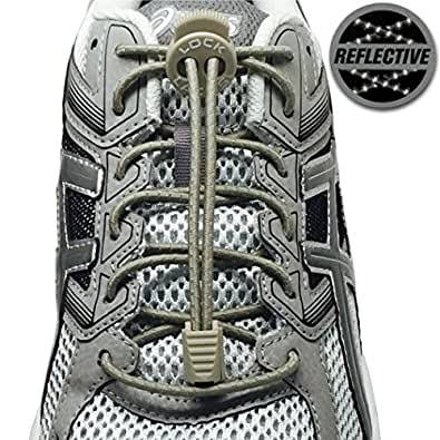 Amazon.com: LOCK LACES Reflective (Elastic No Tie ...