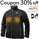 Amazon.com : Smarkey Cordless Heated Jacket Carbon Fiber ...
