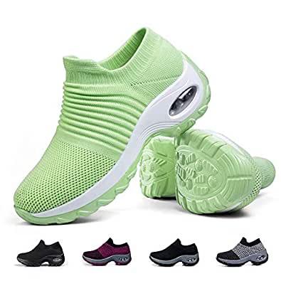 Amazon.com | Women's Walking Shoes Sock Sneakers - Mesh ...